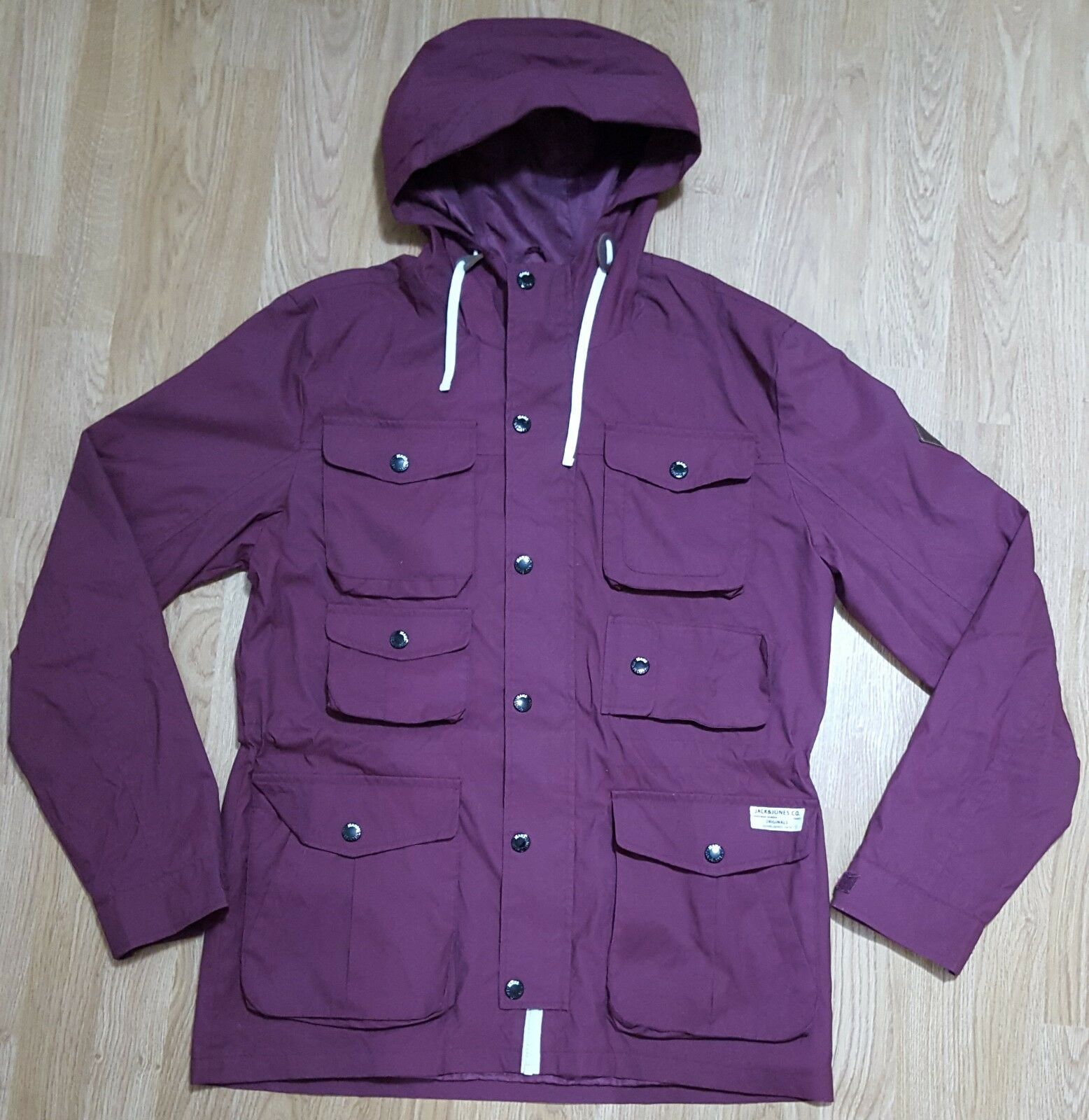 Jack & Jones Denmark jacke With Hood J&J 75 Light Weight rot Größe L