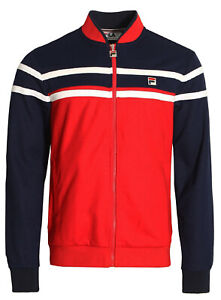 Details about FILA White Line Retro New Mens Zip Up Settanta Track Jacket Casual Top Red
