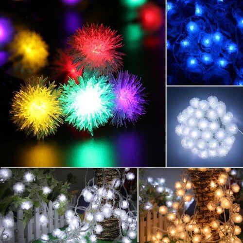 32.8 Feet USB Port 60 LED Snowball String Fairy Lights Xmas Wedding Lamp 8-Mode