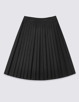 M/&S Senior Girls School Skirt 11-12 black