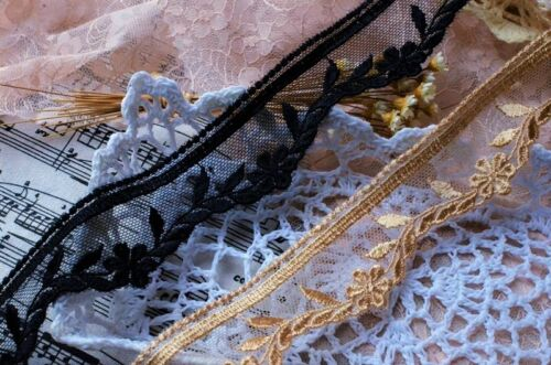 price by the yard //select color// Exquisite 2 color floral embroidery lace trim