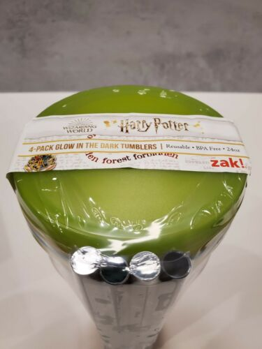 Harry Potter 4-Pack Glow In The Dark Tumblers by Zak!