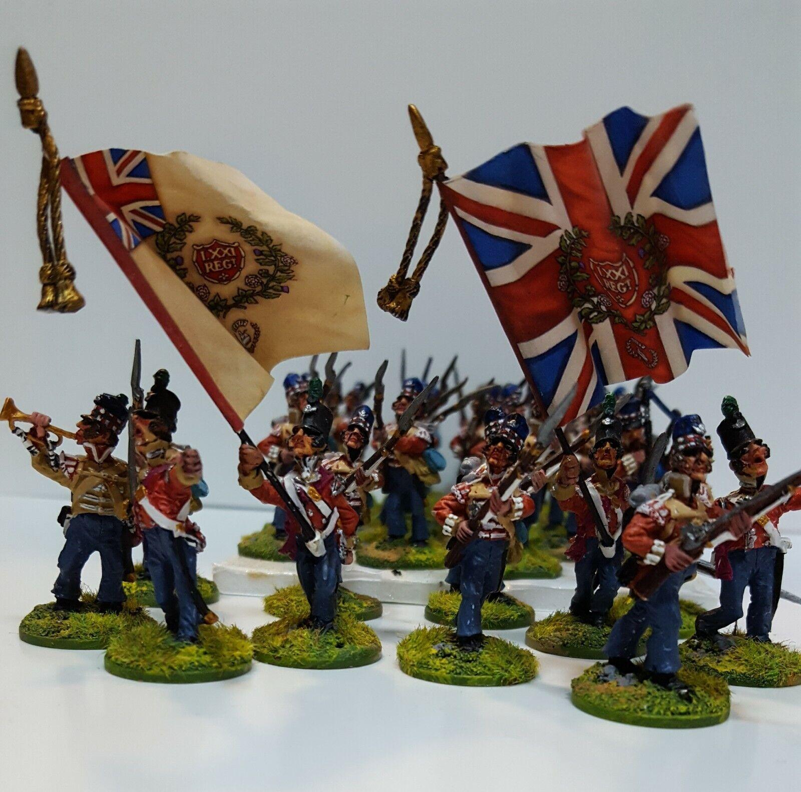 28MM frente figuras de rango británica Peninsular Infantería-Charles S Grant Collection