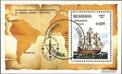 Gestempelt 1981 Espamer `81 Quell Sommer Durst Original Nicaragua Block140 kompl.ausg.