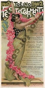 Analytical Torino Expo Carpunetto Art Nouveau Original Period Print Magazine Cover C1900 With The Best Service Periods & Styles