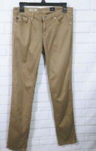 AG-Adriano-Goldschmied-THE-STILT-Cigarette-Tan-Khaki-Skinny-Ankle-Pants-Size-28