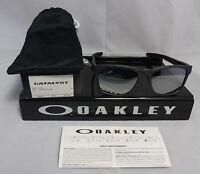 New Oakley CATALYST SUNGLASSES OO9272-03 STEEL W/ CHROME IRIDIUM LENS