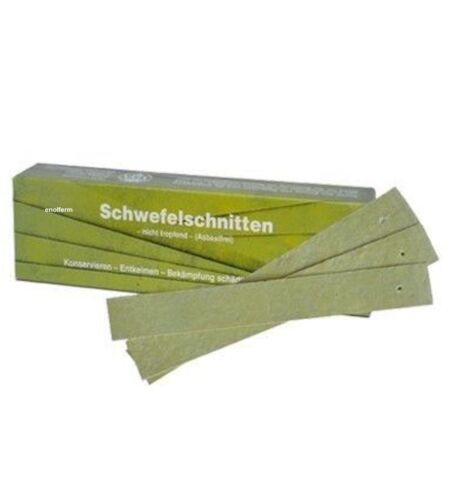 Schwefelschnitten Schwefelbänder Schwefel tropffrei asbestfrei 1 kgr= ca 150 St