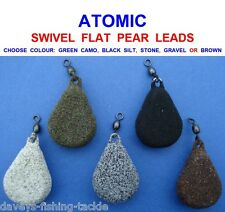 2.5oz Camo Green Flat Pear Swivel Carp//Coarse fishing weights qty 10