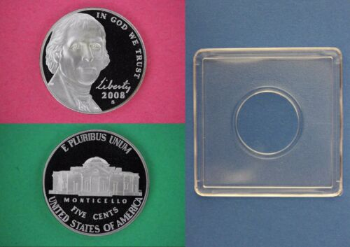 2008 S Proof Thomas Jefferson Nickel DCAM With 2x2 Snap Combined Shipping