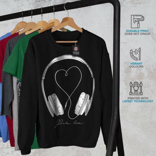 Black New For Felpa Love Music da uomo xCqXwY7Z