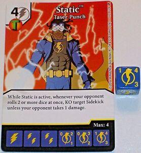STATIC TASER PUNCH 112 Green Arrow /& Flash Dice Masters Rare