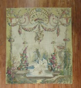 Antique-French-Tapestry-Aubusson-18th-Century-Size-7-039-X9-039-4-039-039