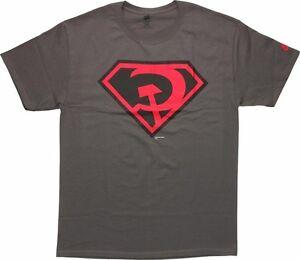 DC-SUPERMAN-RED-SON-SYMBOL-Logo-GREY-ADULT-Licensed-T-Shirt-S-3XL