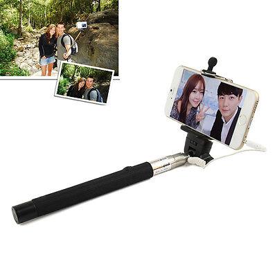 Extendable Handheld Selfie Self Portrait Stick Phone Monopod with Remote Button