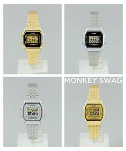 NEW-RETRO-CLASSIC-LADIES-CASIO-WATCH-GOLD-SILVER-LA680WA-LA680WGA