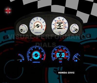 HONDA CIVIC MK6 MB2/MB6 WHITE DIAL KIT SPEEDO CLOCK DASH BULB LIGHTING UPGRADE