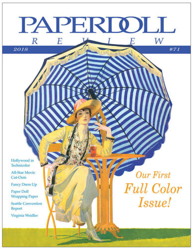 Paperdoll Review Magazine Issue #71, 2018 - First FULL COLOR issue!