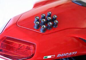 Ducati-848-1098-1198-Rubber-Fairing-Fasteners-nuts-X10