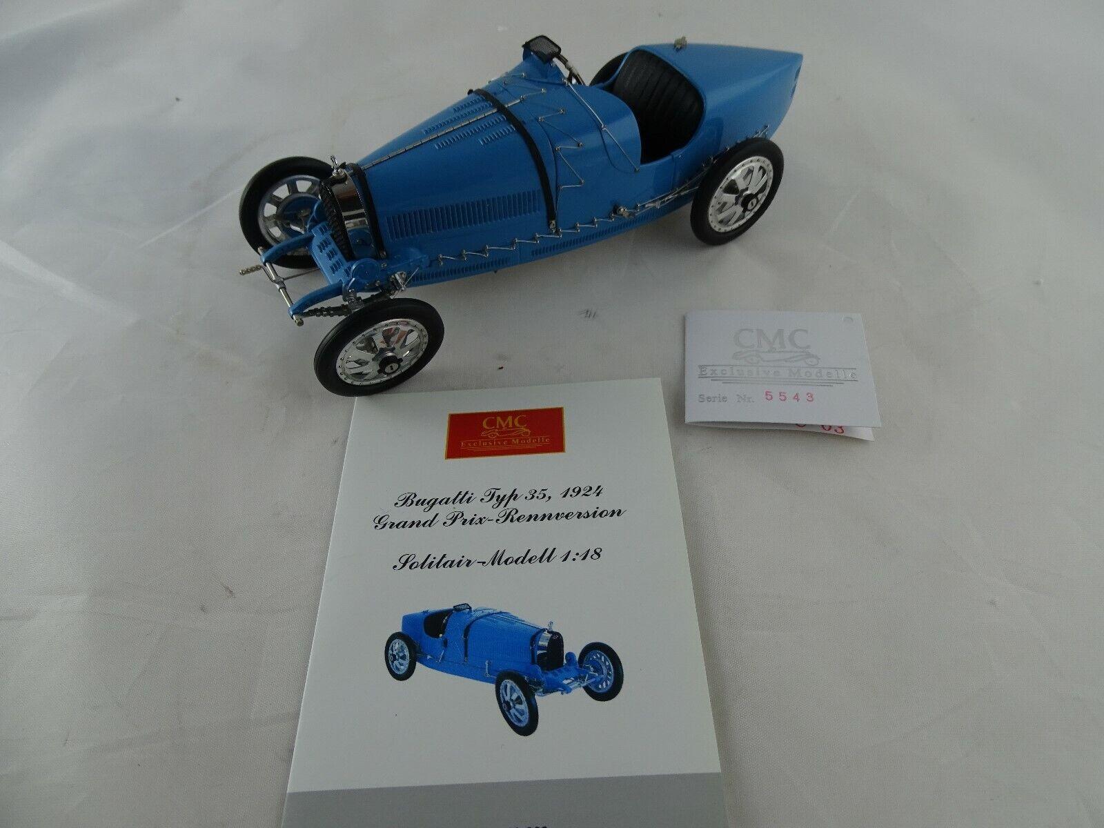 1 18 CMC  M-063 Bugatti Typ 35 Grand Prix 1924 Der Seriensieger blau Rarität