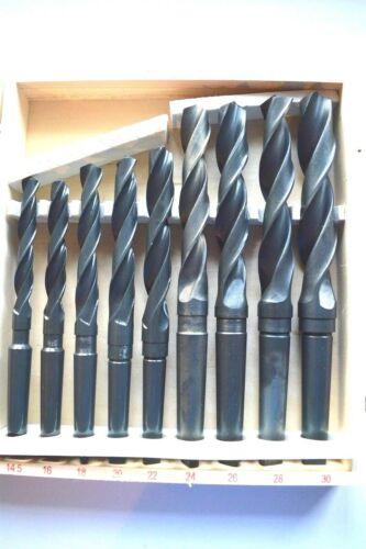 BOHRER SATZ HSS METALL MORSEKON MORSEKEGEL SPIRALBOHRER MK2 MK3 14,5-30mm Neu !!