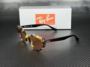 RAY-BAN-RB4314N-12483L-Havana-Gialla-Yellow-Mirror-Gold-54-mm-Women-039-s-Sunglasses
