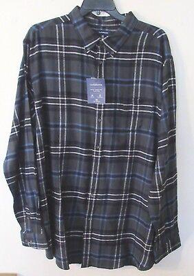 2XB 100/% Cotton NWT Mens Chaps L//S Blue//Green Plaid Flannel Shirt