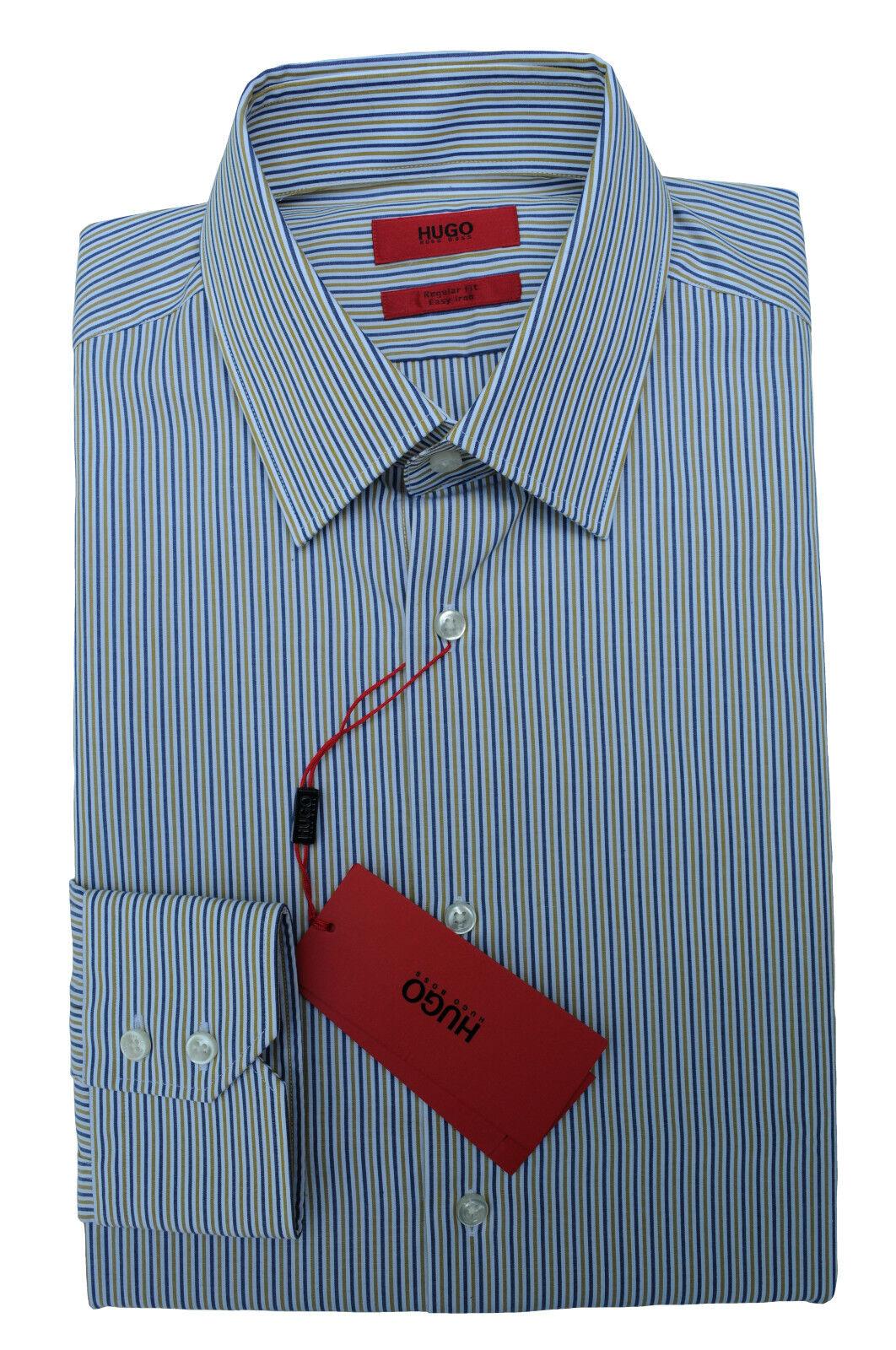 NEU gr. 40 HUGO BOSS HEMD C-ENZO REGULAR FIT RED LABEL EASY IRON Jeans 50372483