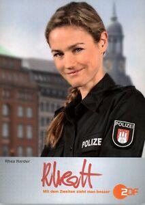 Rhea-Harder-Notruf-Hafenkante-TV-Autogrammkarte-original-signiert-AK-TOP-702-UH