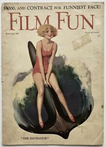 Vintage Feb. 1925 Film Fun Magazine Bathing Beauty Pin-Up Cover Enoch Bolles