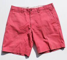 """Polo Ralph Lauren 36"""" Waist Nantucket Red Flat Front Cotton Shorts"""