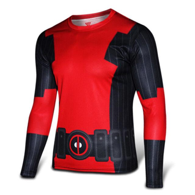 New! Men Compression Superhero T-shirt Long Sleeve Sports Casual Top Tee