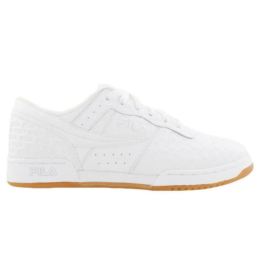 FILA MENS ORIGINAL FITNESS SMALL LOGOS WHITE GUM