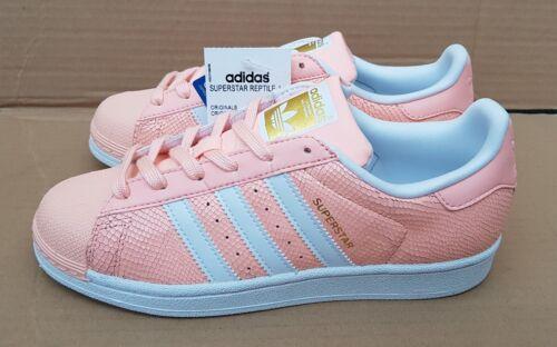 Superstar Reptile New Trainers Bnib Uk 5 Rare Size Pink Adidas Peach Gorgeous qAZBE