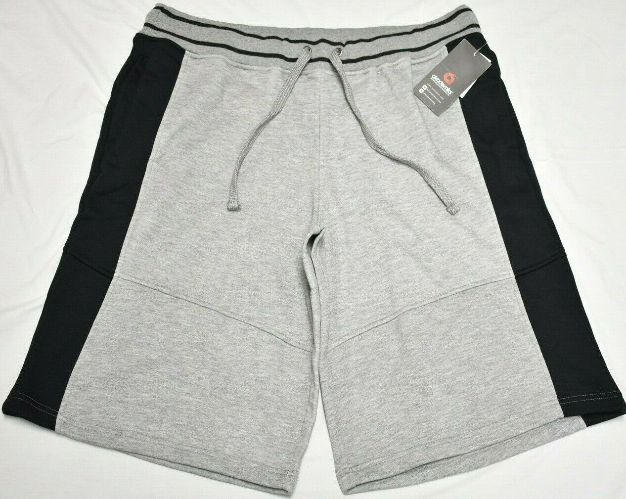 Akademiks Sweat Shorts Men's 5XL 5XB 5X Colorblock Panel Fleece Grey Urban Q960