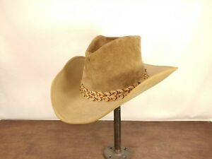 0f619f28d13 Image is loading RESISTOL-Cowboy-Western-self-conforming-tan-hat-7-