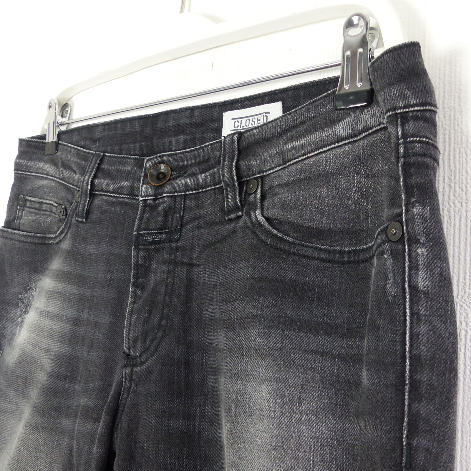 CLOSED Jeans Jeans Jeans Denim Pants Used-Look Schwarz Gr. W26 (D53) | Für Ihre Wahl