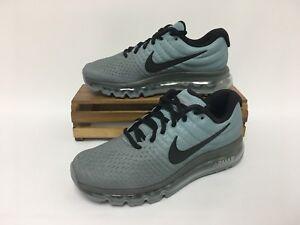 Nike Air Max 2017 Running Shoes Gray Black 849559 003 Men's 6