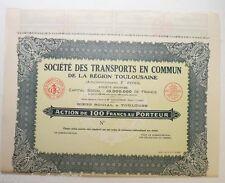 Action ancienne: Sté des transports en commun de Toulouse F.Pons ( 329 )