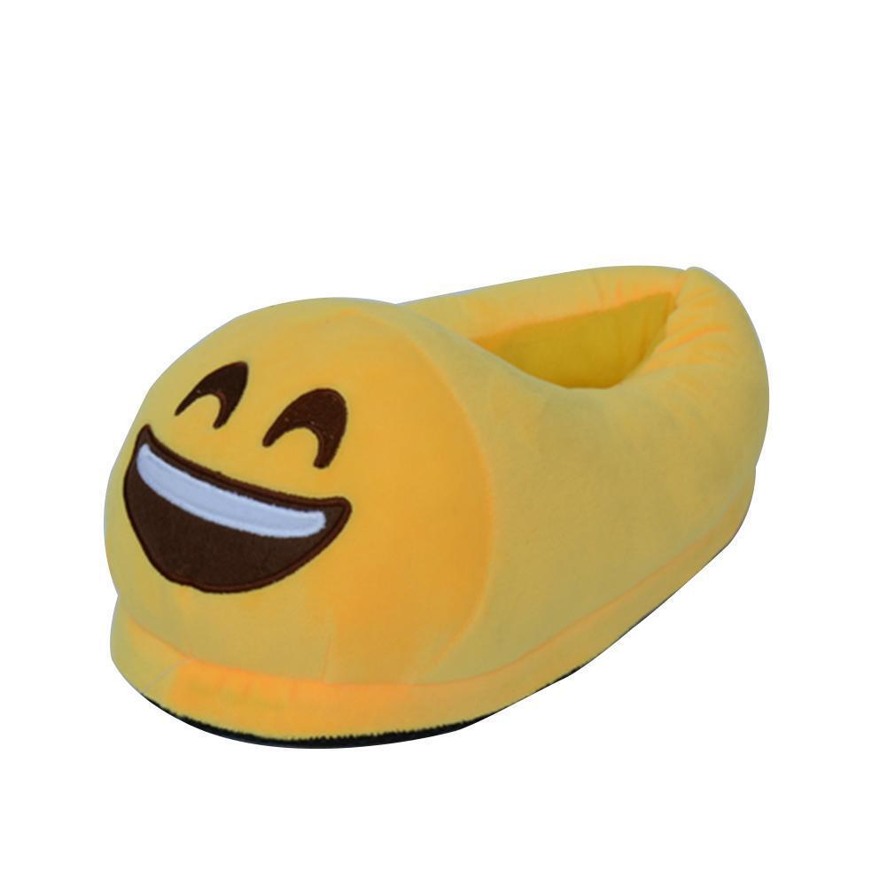 Emoji Morbido Simpatico Fumetto Pantofole Caldo Inverno Felpa Unisex Interno