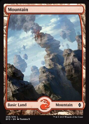 10x Mountain NM-Mint 269 Full Art English Battle for Zendikar MTG Magic