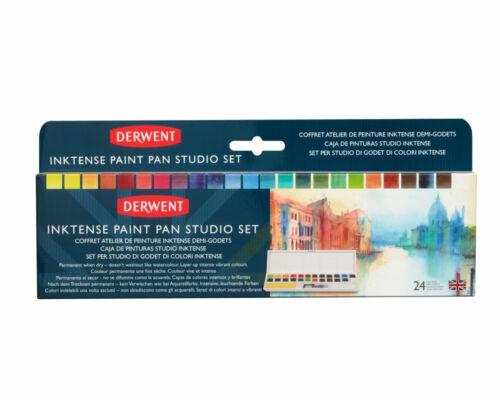 Derwent Inktense peinture Pan Studio Set de 24 couleurs