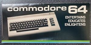 Original Vintage Print Ad for Commodore 64 - Foldable Flyer (1983)