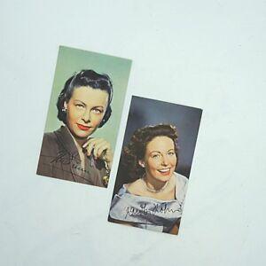 Sammlungsaufloesung-2-x-antike-Autogrammkarte-Ilse-Werner-und-Carola-Hoehn