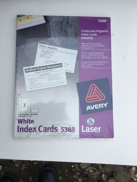 2 boxes avery index cards for laser  inkjet printer 3 x 5