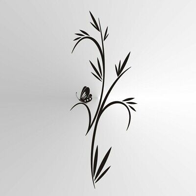 F6 Grass /& Butterfly Reusable Stencil A3 A4 A5 Romantic Shabby Chic Craft DIY