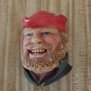 Vintage  Legend Products Little John Chalkware Head Wall Hanging, 1985, England