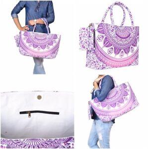 Bag-Tote-Beach-Shoulder-Handbag-Shopping-Women-Purse-Clear-Large-Canvas-Bags
