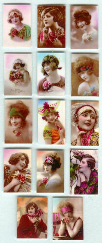 SET OF HAND-MADE DOLLS/' HOUSE 1//12TH SCALE ART DECO PHOTOGRAPHS