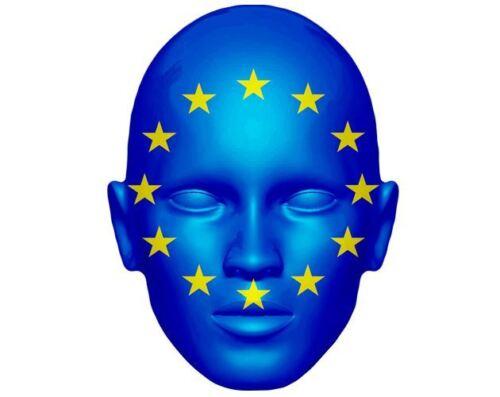 European Flag Celebrity Mask Card Face and Fancy Dress Mask